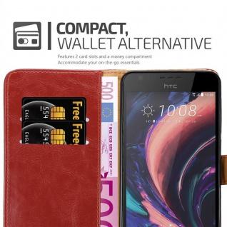 Cadorabo Hülle für HTC Desire 10 Lifestyle / Desire 825 in WEIN ROT - Handyhülle mit Magnetverschluss, Standfunktion und Kartenfach - Case Cover Schutzhülle Etui Tasche Book Klapp Style - Vorschau 5