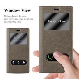 Cadorabo Hülle für Huawei P9 in STEIN BRAUN - Handyhülle mit Magnetverschluss, Standfunktion und 2 Sichtfenstern - Case Cover Schutzhülle Etui Tasche Book Klapp Style - Vorschau 2