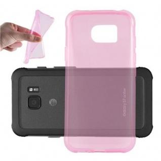 Cadorabo Hülle für Samsung Galaxy S7 ACTIVE in TRANSPARENT PINK - Handyhülle aus flexiblem TPU Silikon - Silikonhülle Schutzhülle Ultra Slim Soft Back Cover Case Bumper
