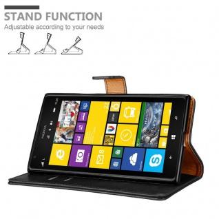 Cadorabo Hülle für Nokia Lumia 1520 in GRAPHIT SCHWARZ ? Handyhülle mit Magnetverschluss, Standfunktion und Kartenfach ? Case Cover Schutzhülle Etui Tasche Book Klapp Style - Vorschau 4
