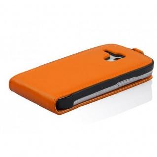 Cadorabo Hülle für Samsung Galaxy S3 MINI in ORANGE - Handyhülle im Flip Design aus glattem Kunstleder - Case Cover Schutzhülle Etui Tasche Book Klapp Style - Vorschau 3