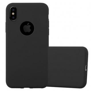 Cadorabo Hülle für Apple iPhone X / XS in CANDY SCHWARZ - Handyhülle aus flexiblem TPU Silikon - Silikonhülle Schutzhülle Ultra Slim Soft Back Cover Case Bumper