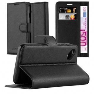 Cadorabo Hülle für WIKO SUNNY in PHANTOM SCHWARZ - Handyhülle mit Magnetverschluss, Standfunktion und Kartenfach - Case Cover Schutzhülle Etui Tasche Book Klapp Style