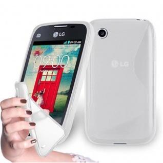Cadorabo Hülle für LG L40 in HALB TRANSPARENT ? Handyhülle aus flexiblem TPU Silikon ? Silikonhülle Schutzhülle Ultra Slim Soft Back Cover Case Bumper