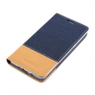 Cadorabo Hülle für Samsung Galaxy J5 2016 in DUNKEL BLAU BRAUN - Handyhülle mit Magnetverschluss, Standfunktion und Kartenfach - Case Cover Schutzhülle Etui Tasche Book Klapp Style - Vorschau 3