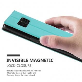 Cadorabo Hülle für Samsung Galaxy NOTE 8 in MINT TÜRKIS - Handyhülle mit Magnetverschluss, Standfunktion und 2 Sichtfenstern - Case Cover Schutzhülle Etui Tasche Book Klapp Style - Vorschau 5