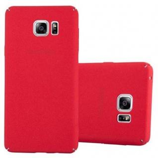 Cadorabo Hülle für Samsung Galaxy NOTE 5 in FROSTY ROT - Hardcase Handyhülle aus Plastik gegen Kratzer und Stöße - Schutzhülle Bumper Ultra Slim Back Case Hard Cover