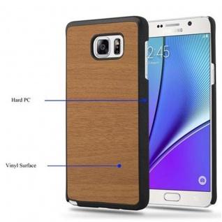 Cadorabo Hülle für Samsung Galaxy NOTE 5 in WOODY BRAUN ? Hardcase Handyhülle aus Plastik gegen Kratzer und Stöße ? Schutzhülle Bumper Ultra Slim Back Case Hard Cover - Vorschau 3
