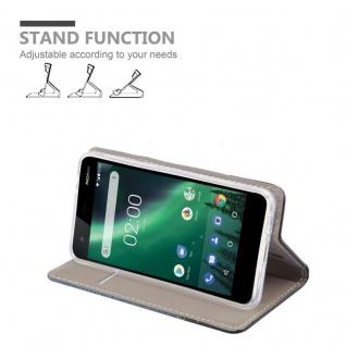 Cadorabo Hülle für Nokia 2 2017 in DUNKEL BLAU SCHWARZ - Handyhülle mit Magnetverschluss, Standfunktion und Kartenfach - Case Cover Schutzhülle Etui Tasche Book Klapp Style - Vorschau 3