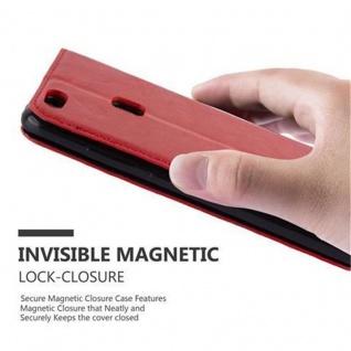 Cadorabo Hülle für Huawei P10 LITE in APFEL ROT Handyhülle mit Magnetverschluss, Standfunktion und Kartenfach Case Cover Schutzhülle Etui Tasche Book Klapp Style - Vorschau 5
