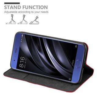 Cadorabo Hülle für Xiaomi Mi 6 in APFEL ROT Handyhülle mit Magnetverschluss, Standfunktion und Kartenfach Case Cover Schutzhülle Etui Tasche Book Klapp Style - Vorschau 4