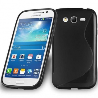 Cadorabo Hülle für Samsung Galaxy GRAND 3 in OXID SCHWARZ ? Handyhülle aus flexiblem TPU Silikon ? Silikonhülle Schutzhülle Ultra Slim Soft Back Cover Case Bumper