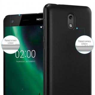 Cadorabo Hülle für Nokia 2 2017 in METALL SCHWARZ - Hardcase Handyhülle aus Plastik gegen Kratzer und Stöße - Schutzhülle Bumper Ultra Slim Back Case Hard Cover - Vorschau 4