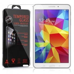 Cadorabo Panzer Folie für Samsung Galaxy Tab 4 (8 Zoll) Schutzfolie in KRISTALL KLAR Gehärtetes (Tempered) Display-Schutzglas in 9H Härte mit 3D Touch Kompatibilität