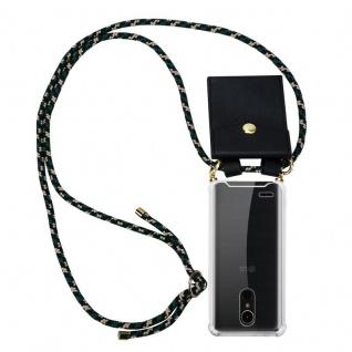 Cadorabo Handy Kette für LG K10 2017 in CAMOUFLAGE ? Silikon Necklace Umhänge Hülle mit Gold Ringen, Kordel Band Schnur und abnehmbarem Etui ? Schutzhülle