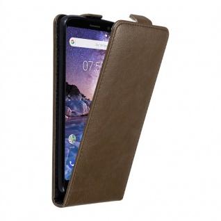 Cadorabo Hülle für Nokia 7 PLUS in KAFFEE BRAUN - Handyhülle im Flip Design mit unsichtbarem Magnetverschluss - Case Cover Schutzhülle Etui Tasche Book Klapp Style