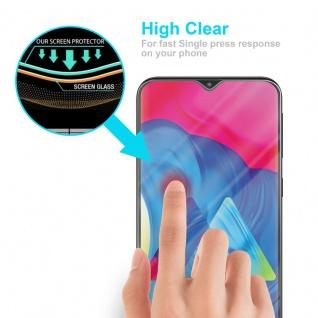 Cadorabo Panzer Folie für Samsung Galaxy M10 - Schutzfolie in KRISTALL KLAR - Gehärtetes (Tempered) Display-Schutzglas in 9H Härte mit 3D Touch Kompatibilität - Vorschau 4