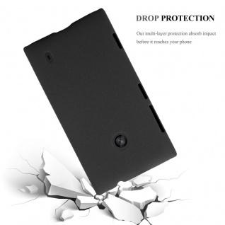 Cadorabo Hülle für Nokia Lumia 520 in FROSTY SCHWARZ - Hardcase Handyhülle aus Plastik gegen Kratzer und Stöße - Schutzhülle Bumper Ultra Slim Back Case Hard Cover - Vorschau 3
