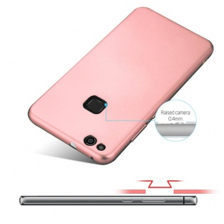 Cadorabo Hülle für Huawei P10 LITE in METALL ROSÉ GOLD - Hardcase Handyhülle aus Plastik gegen Kratzer und Stöße - Schutzhülle Bumper Ultra Slim Back Case Hard Cover - Vorschau 4