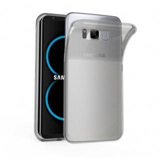 Cadorabo Hülle für Samsung Galaxy S8 in TRANSPARENT SCHWARZ - Handyhülle aus flexiblem TPU Silikon - Silikonhülle Schutzhülle Ultra Slim Soft Back Cover Case Bumper