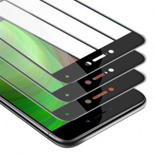 Cadorabo 3x Vollbild Panzer Folie für Huawei NOVA LITE Schutzfolie in TRANSPARENT mit SCHWARZ 3er Pack Gehärtetes (Tempered) Display-Schutzglas in 9H Härte mit 3D Touch