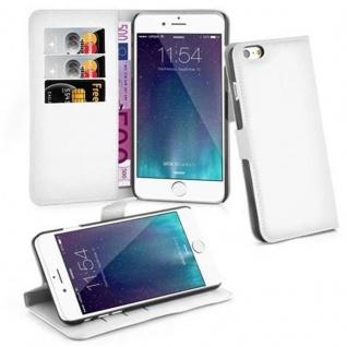 Cadorabo ! PREMIUM ? Book Style Hülle im Portemonnaie Design für Apple Iphone 6 PLUS mit Standfunktion in ARKTIS-WEIß