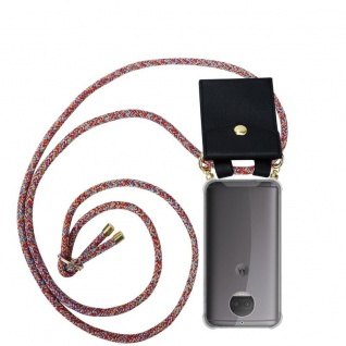 Cadorabo Handy Kette für Motorola MOTO G5S PLUS in COLORFUL PARROT Silikon Necklace Umhänge Hülle mit Gold Ringen, Kordel Band Schnur und abnehmbarem Etui Schutzhülle