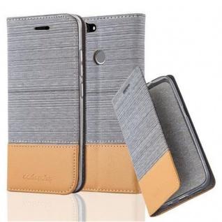 Cadorabo Hülle für Huawei NOVA in HELL GRAU BRAUN Handyhülle mit Magnetverschluss, Standfunktion und Kartenfach Case Cover Schutzhülle Etui Tasche Book Klapp Style