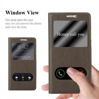 Cadorabo Hülle für Huawei MATE 9 in STEIN BRAUN ? Handyhülle mit Magnetverschluss, Standfunktion und 2 Sichtfenstern ? Case Cover Schutzhülle Etui Tasche Book Klapp Style - Vorschau 2