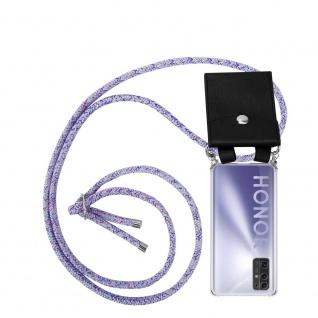 Cadorabo Handy Kette für Honor 30 in UNICORN Silikon Necklace Umhänge Hülle mit Silber Ringen, Kordel Band Schnur und abnehmbarem Etui Schutzhülle