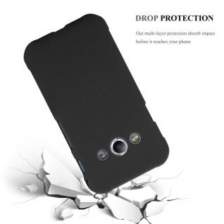 Cadorabo Hülle für Samsung Galaxy XCover 3 in FROSTY SCHWARZ - Hardcase Handyhülle aus Plastik gegen Kratzer und Stöße - Schutzhülle Bumper Ultra Slim Back Case Hard Cover - Vorschau 3