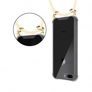 Cadorabo Handy Kette für Apple iPhone 8 PLUS / 7 PLUS / 7S PLUS in CREME BEIGE - Silikon Necklace Umhänge Hülle mit Gold Ringen, Kordel Band Schnur und abnehmbarem Etui ? Schutzhülle - Vorschau 4