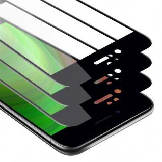 Cadorabo 3x Vollbild Panzer Folie für Apple iPhone 7 / 7S / 8 / SE 2020 - Schutzfolie in TRANSPARENT mit SCHWARZ - 3er Pack Gehärtetes (Tempered) Display-Schutzglas in 9H Härte mit 3D Touch
