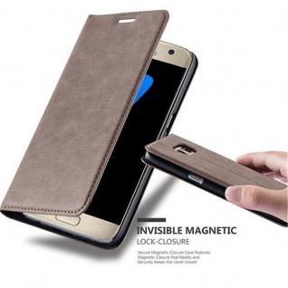 Cadorabo Hülle für Samsung Galaxy S7 in KAFFEE BRAUN - Handyhülle mit Magnetverschluss, Standfunktion und Kartenfach - Case Cover Schutzhülle Etui Tasche Book Klapp Style