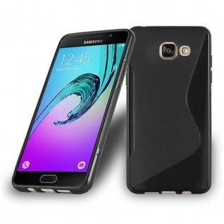 Cadorabo Hülle für Samsung Galaxy A5 2016 in OXID SCHWARZ ? Handyhülle aus flexiblem TPU Silikon ? Silikonhülle Schutzhülle Ultra Slim Soft Back Cover Case Bumper