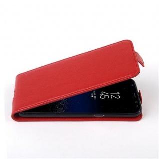 Cadorabo Hülle für Samsung Galaxy S8 in INFERNO ROT - Handyhülle im Flip Design aus strukturiertem Kunstleder - Case Cover Schutzhülle Etui Tasche Book Klapp Style