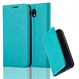 Cadorabo Hülle für Samsung Galaxy J7 2017 in PETROL TÜRKIS - Handyhülle mit Magnetverschluss, Standfunktion und Kartenfach - Case Cover Schutzhülle Etui Tasche Book Klapp Style
