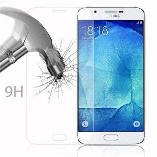 Cadorabo Panzer Folie für Samsung Galaxy A8 2015 - Schutzfolie in KRISTALL KLAR - Gehärtetes (Tempered) Display-Schutzglas in 9H Härte mit 3D Touch Kompatibilität - Vorschau 3