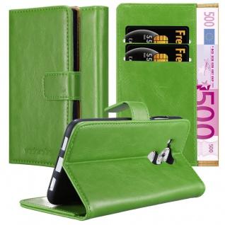 Cadorabo Hülle für Huawei NOVA PLUS in GRAS GRÜN ? Handyhülle mit Magnetverschluss, Standfunktion und Kartenfach ? Case Cover Schutzhülle Etui Tasche Book Klapp Style