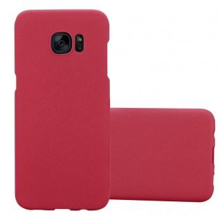 Cadorabo Hülle für Samsung Galaxy S7 EDGE in FROSTY ROT - Hardcase Handyhülle aus Plastik gegen Kratzer und Stöße - Schutzhülle Bumper Ultra Slim Back Case Hard Cover