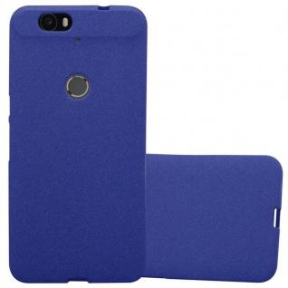 Cadorabo Hülle für Huawei NEXUS 6P in FROST DUNKEL BLAU - Handyhülle aus flexiblem TPU Silikon - Silikonhülle Schutzhülle Ultra Slim Soft Back Cover Case Bumper