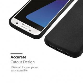 Cadorabo Hülle für Samsung Galaxy S7 - Hülle in MINERAL SCHWARZ ? Small Waist Handyhülle mit rutschfestem Gummi-Rücken - Hard Case TPU Silikon Schutzhülle - Vorschau 5