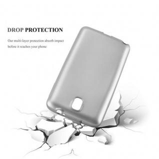 Cadorabo Hülle für Samsung Galaxy NOTE 3 in METALLIC SILBER - Handyhülle aus flexiblem TPU Silikon - Silikonhülle Schutzhülle Ultra Slim Soft Back Cover Case Bumper - Vorschau 3
