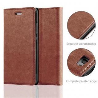 Cadorabo Hülle für Huawei P8 LITE 2015 in CAPPUCCINO BRAUN - Handyhülle mit Magnetverschluss, Standfunktion und Kartenfach - Case Cover Schutzhülle Etui Tasche Book Klapp Style - Vorschau 2