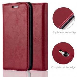 Cadorabo Hülle für Samsung Galaxy S4 MINI in APFEL ROT - Handyhülle mit Magnetverschluss, Standfunktion und Kartenfach - Case Cover Schutzhülle Etui Tasche Book Klapp Style - Vorschau 2