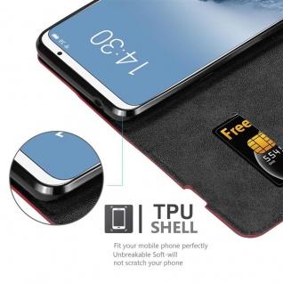 Cadorabo Hülle für MEIZU 16 in APFEL ROT Handyhülle mit Magnetverschluss, Standfunktion und Kartenfach Case Cover Schutzhülle Etui Tasche Book Klapp Style - Vorschau 2