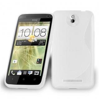 Cadorabo Hülle für HTC Desire 501 in HALB TRANSPARENT ? Handyhülle aus flexiblem TPU Silikon ? Silikonhülle Schutzhülle Ultra Slim Soft Back Cover Case Bumper
