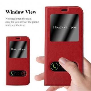 Cadorabo Hülle für Samsung Galaxy S8 in SAFRAN ROT ? Handyhülle mit Magnetverschluss, Standfunktion und 2 Sichtfenstern ? Case Cover Schutzhülle Etui Tasche Book Klapp Style - Vorschau 2