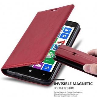 Cadorabo Hülle für Nokia Lumia 625 in APFEL ROT - Handyhülle mit Magnetverschluss, Standfunktion und Kartenfach - Case Cover Schutzhülle Etui Tasche Book Klapp Style