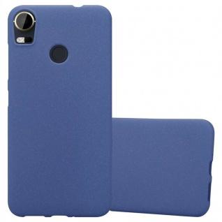Cadorabo Hülle für HTC Desire 10 PRO in FROST DUNKEL BLAU - Handyhülle aus flexiblem TPU Silikon - Silikonhülle Schutzhülle Ultra Slim Soft Back Cover Case Bumper